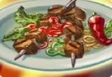 لعبة شوي الدجاج واللحم والسمك
