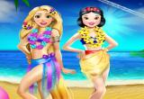 لعبة نزهة ربانزل وسنو وايت على الشاطئ