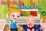 لعبة بيبي هازل الطفلة العسلية في المطبخ