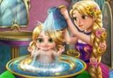 لعبة استحمام طفلة ربانزل