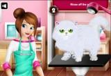 لعبة تنظيف القطة كيتي الصغيرة بالماء والصابون