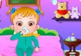 العاب بيبي هازل مريضة بالحمى