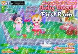 لعبة بيبي هازل تحت المطر