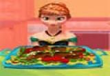 العاب طبخ الدجاج مع آنا الاميرة
