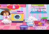 لعبة غسل فساتين دورا الصغيرة فى الغساله  2017