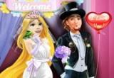 لعبة تلبيس العروسين ربانزل وفلين 2017