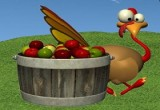 لعبة صيد الديك الرومي بالتفاح